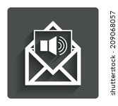 voice mail icon. speaker symbol....