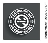 no smoking day sign icon. quit...