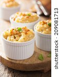 Small photo of baked macaroni with cheese