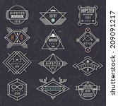hipster style elements and... | Shutterstock .eps vector #209091217
