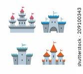 castle icons | Shutterstock .eps vector #209100343