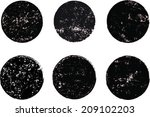 set of grunge vector shapes | Shutterstock .eps vector #209102203