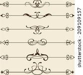 classic divide line set on white   Shutterstock .eps vector #209109157