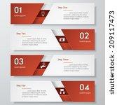 design clean number banners... | Shutterstock .eps vector #209117473