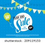 year end sale   Shutterstock .eps vector #209119153