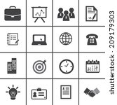 office and business icons | Shutterstock .eps vector #209179303