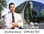 portrait of a bus driver | Shutterstock . vector #209181787