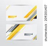 a set of modern vector banners... | Shutterstock .eps vector #209201407