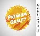 premium quality orange label | Shutterstock .eps vector #209223103