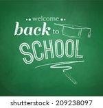 back to school typographical... | Shutterstock .eps vector #209238097