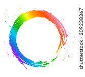 rainbow circle frame | Shutterstock .eps vector #209238367