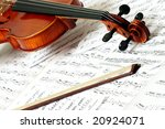 Detail of violin - stock photo
