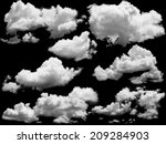 set of isolated clouds over... | Shutterstock . vector #209284903