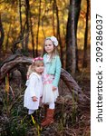 two little fashion girl in the... | Shutterstock . vector #209286037