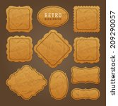 vintage labels design. retro... | Shutterstock .eps vector #209290057