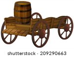 illustration of a barrel on a... | Shutterstock .eps vector #209290663