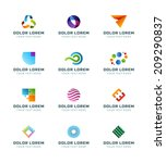 abstract icons or logotypes... | Shutterstock .eps vector #209290837