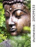Grunge Look Buddha Figure In...
