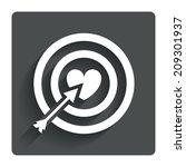 target aim sign icon. darts...