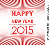 happy new year 2015 in red... | Shutterstock .eps vector #209302273