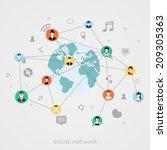 concept for social network  for ... | Shutterstock .eps vector #209305363