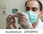 dentist working - stock photo