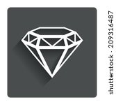 diamond sign icon. jewelry...