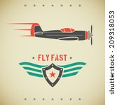 classic flat looking fast plane ... | Shutterstock .eps vector #209318053