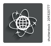 globe sign icon. world...