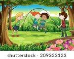 illustration of the children...   Shutterstock . vector #209323123
