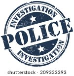 police investigation stamp | Shutterstock .eps vector #209323393