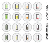 vector of flat icon  battery... | Shutterstock .eps vector #209347207