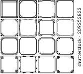 simple frames  set 3  | Shutterstock .eps vector #209352823