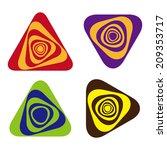 rotating triangles logo  full... | Shutterstock .eps vector #209353717