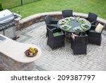 elegant outdoor living space on ... | Shutterstock . vector #209387797