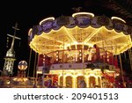 an image of merry go round at... | Shutterstock . vector #209401513