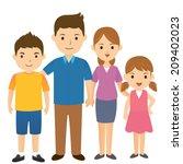 happy family | Shutterstock .eps vector #209402023