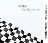 Checkered Flag. Wave Background