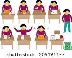 schoolboy | Shutterstock .eps vector #209491177