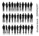 silhouette group of people... | Shutterstock .eps vector #209496397