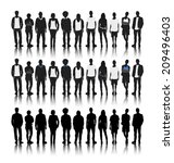 silhouettes of diverse people... | Shutterstock .eps vector #209496403
