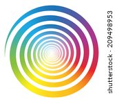 Rainbow Color Gradient Spiral....