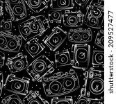 white photo cameras seamless... | Shutterstock . vector #209527477