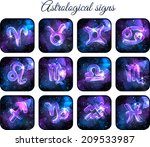 astrological signs. icon set....   Shutterstock .eps vector #209533987