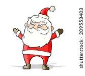 cartoon happy santa claus   Shutterstock .eps vector #209553403
