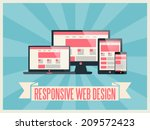 responsive web design vector...
