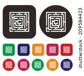 labyrinth icon   maze icon | Shutterstock .eps vector #209584423