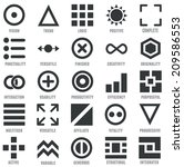 set of geometric icons as... | Shutterstock .eps vector #209586553