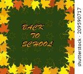 back to school.letter in frame...   Shutterstock .eps vector #209590717
