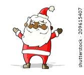 cartoon happy santa claus   Shutterstock . vector #209615407
